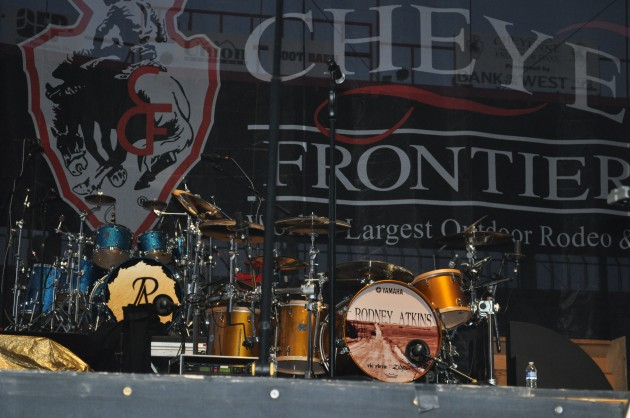 Cheyenne Frontier Days Stage - Set up for Rodney Atkins