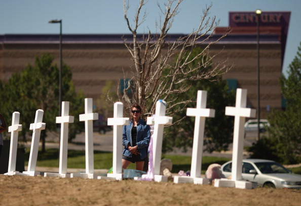 Makeshift Memorial for Deadly Movie Theater Shooting