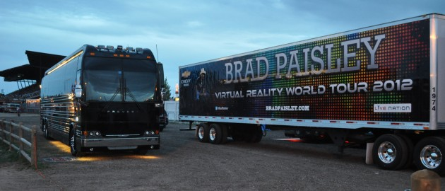 Brad Paisley's bus & Trailer at CFD