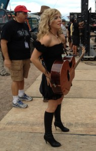 Kimberly from the Band Perry Backstage at CFD
