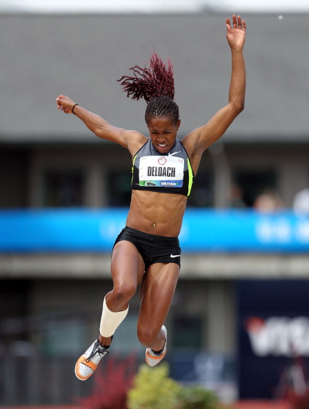 longjumper Janay DeLoach  at 2012 U.S. Olympic Track & Field Team Trials