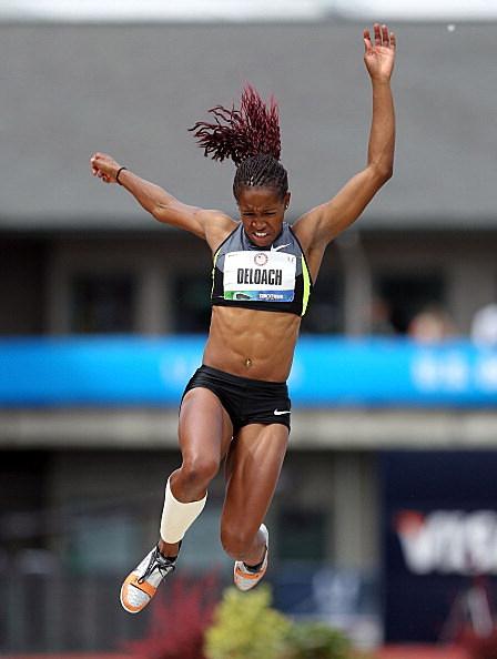 longjumper Janay DeLoach  at 2012 U.S. Olympic Track & Field Team Trials