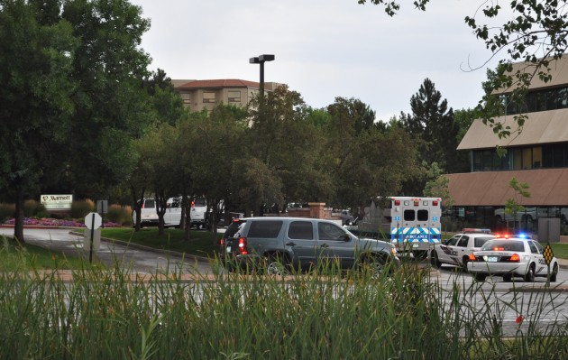 President Obama and his security detail visiting the Fort Collins Marriott