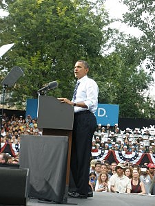 President Obama speaking at CSU