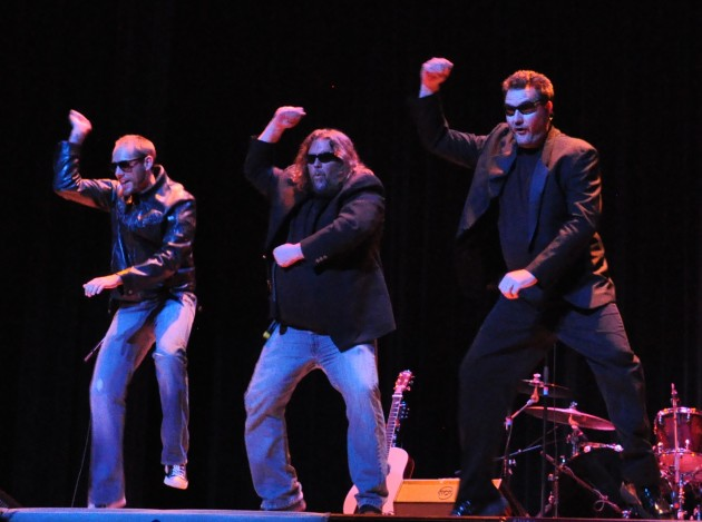 Shawn Patrick, Brian Gary, and Todd Harding going Gangnum Style