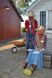 Scarecrows were auctioned off to benefit Namaqua Center
