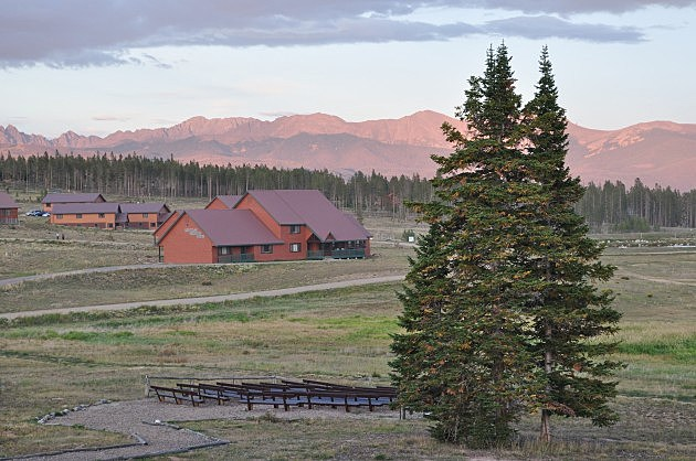 Sun shines on the mountains from YMCA of the Rockies - Snow Mountain Ranch