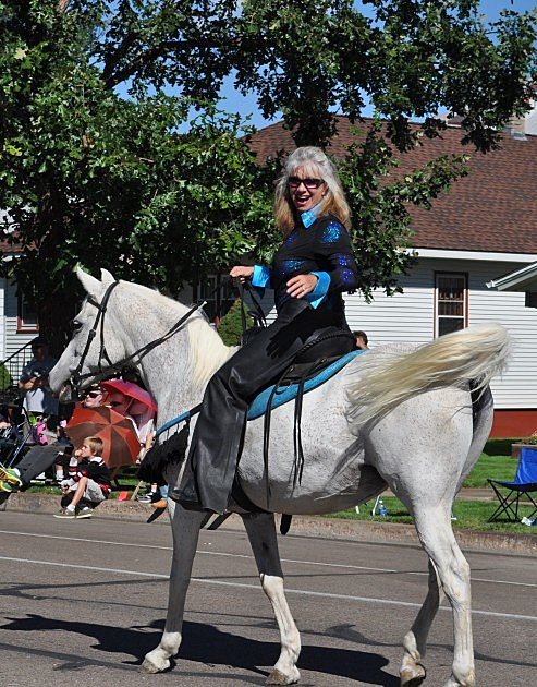 Susan Moore on her horse Lily in Windsor Harvest Festival parade
