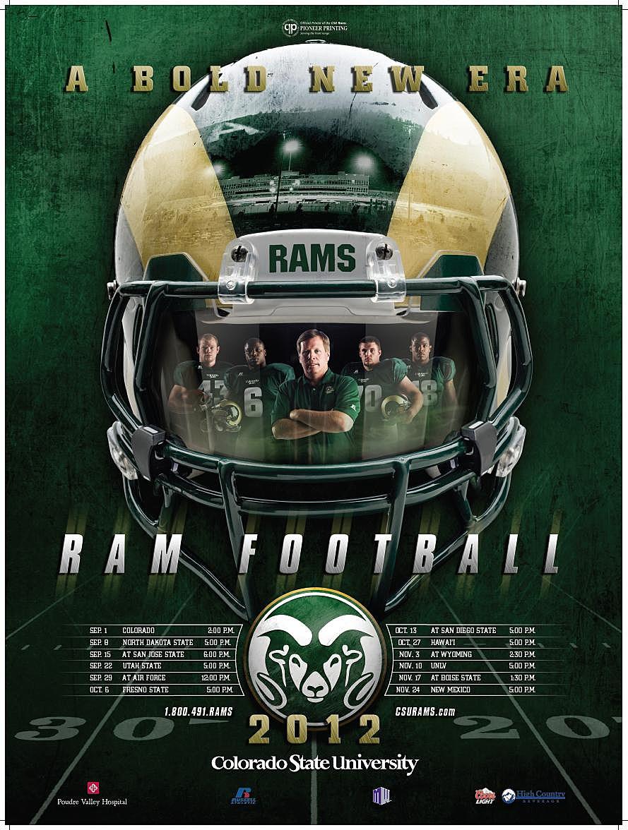 CSU Rams Schedule Poster 2012