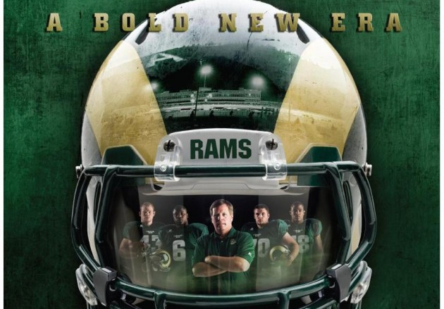 CSU Rams Football Schedule Poster 2012