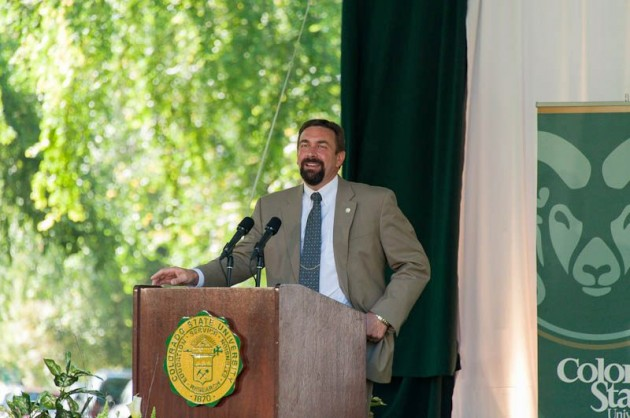 Colorado State University President Tony Frank delivers his 2012 Fall Address