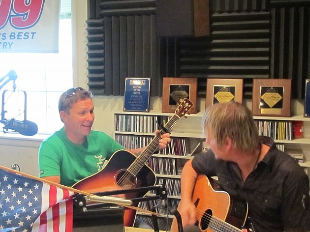 Craig Morgan in the K99 Studio on Charley Barnes' show