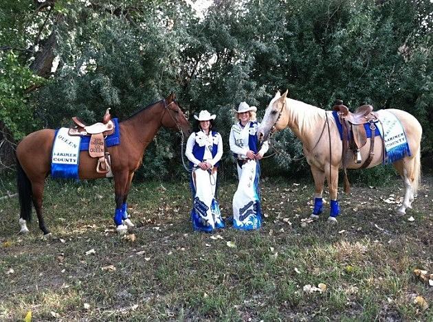Larimer County Fair Queen Savannah Martinez & Lady-in- Waiting Danielle Mayer