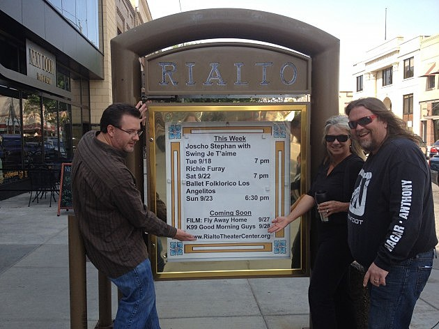 Marquee at the Rialto Theatre in Loveland