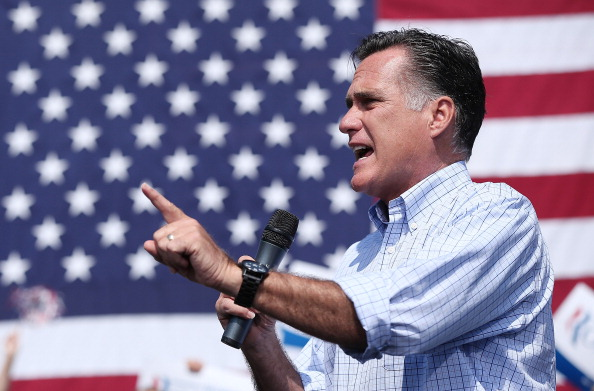 Mitt Romney Attends Campaign Rally