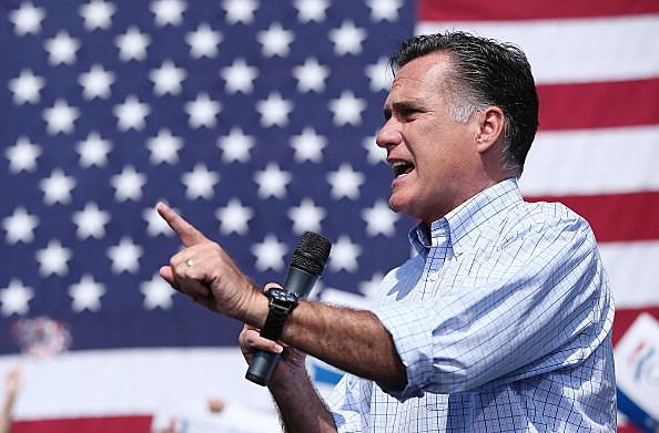 Mitt Romney Attends Campaign Rally