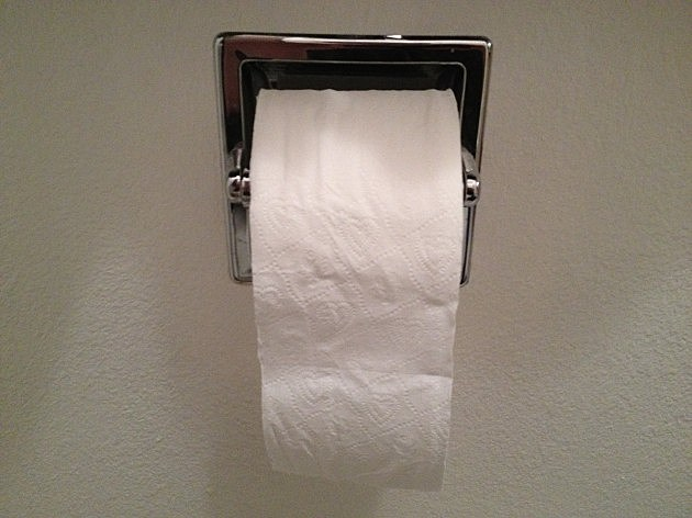 Todd's toilet paper over, not under
