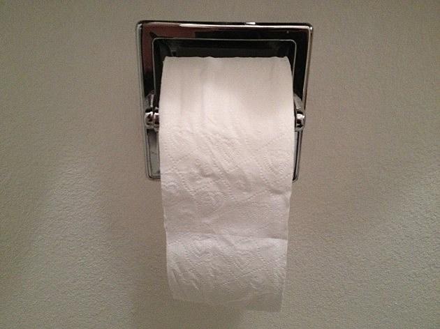 Todd's toilet paper over, not under