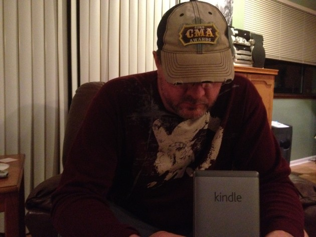 Todd Reading Kindle