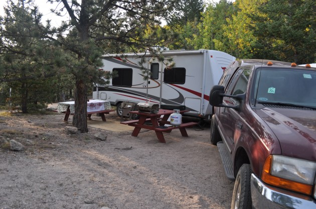 Camping with Truck and Trailer