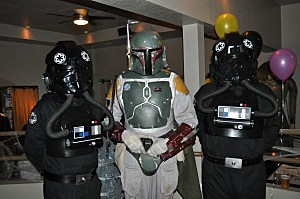 Costume contest winners - Boba Fett and his wing men