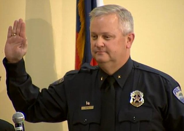 John Hutto is sworn in as the new Police Chief for the City of Fort Collins