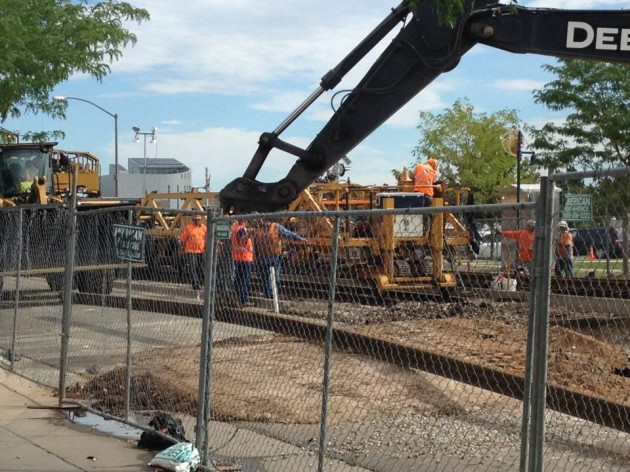 Construction on Mason Street in Fort Collins