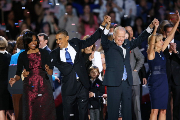 President Obama Celebrates Victory Election Night Event In Chicago