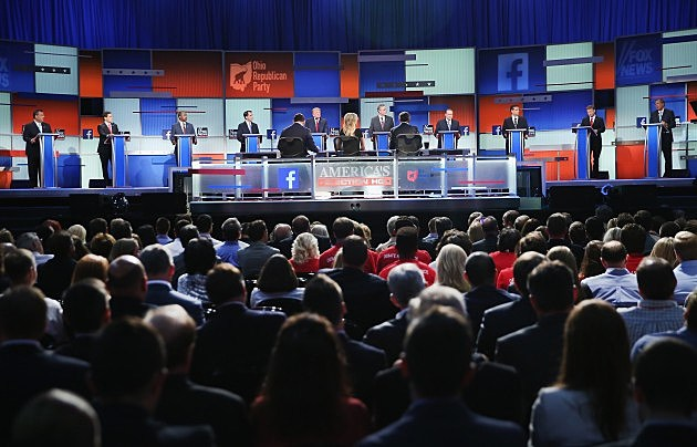 10 Candidates in 1st Republican Debate of 2015
