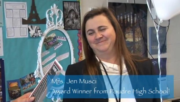Teacher Tuesday Winner 11_13_12 JenMusci from Poudre High School