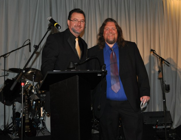 Todd Harding and Brian Gary MC Crossroads Safehouse Gala