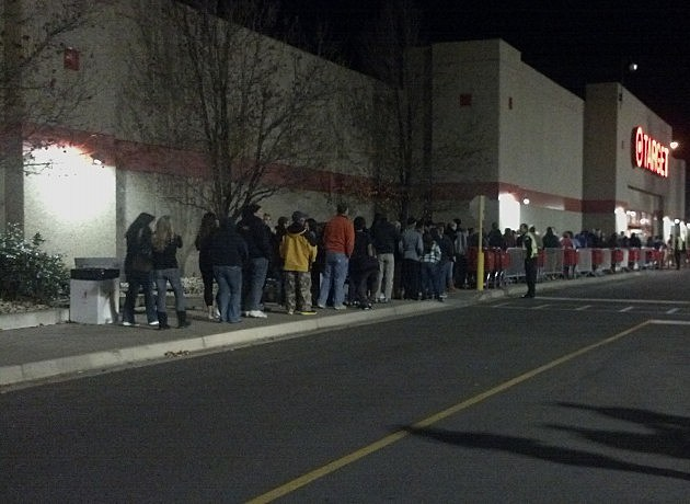 Target in Fort Collins on Black Friday  2012