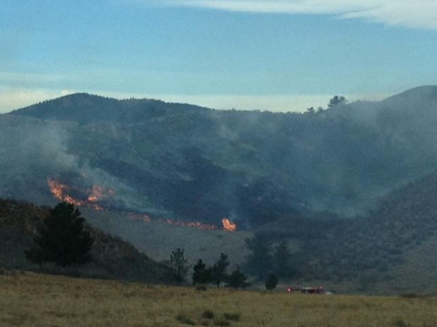 Grass Fire West of Loveland