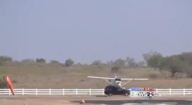 Small Plane Hits SUV