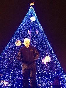 Todd Harding in Front of NightLights Tree 2011