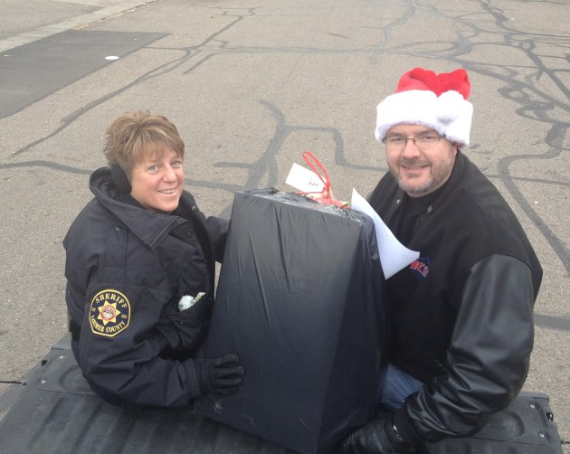 Delivering the Toys for Santa Cops
