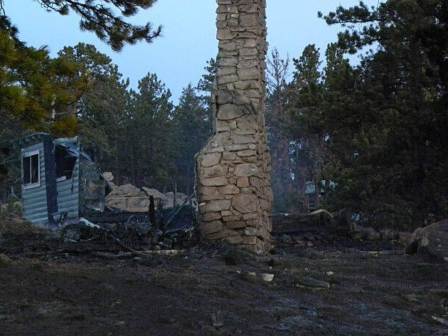 Cabin Destroyed by Red Feather Lakes Fire