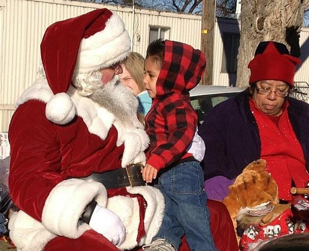 Santa talks to child