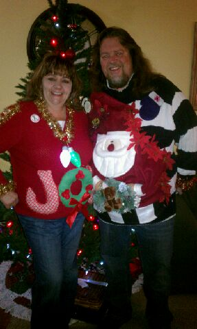 brian and kyla ugly sweaters