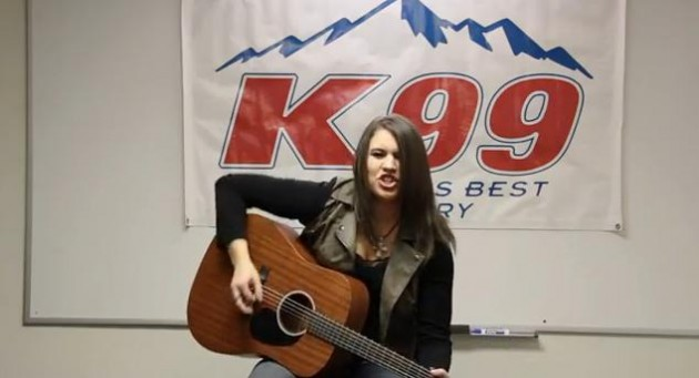 "Rachel Farley Performs ""Ain't Easy"" in K99 basement"