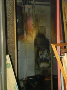 Source of electrical fire at 155 East Boardwalk Drive in Fort Collins