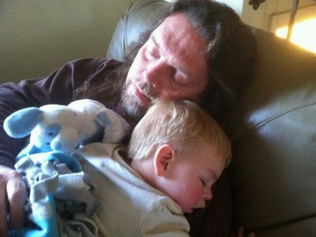 Grampa and Zander Sleeping