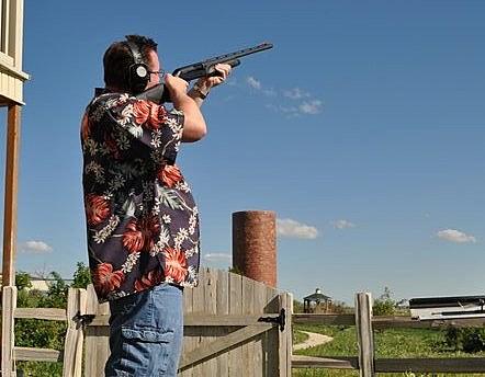 Todd shooting gun