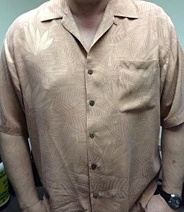 Todd's Salmon colored shirt