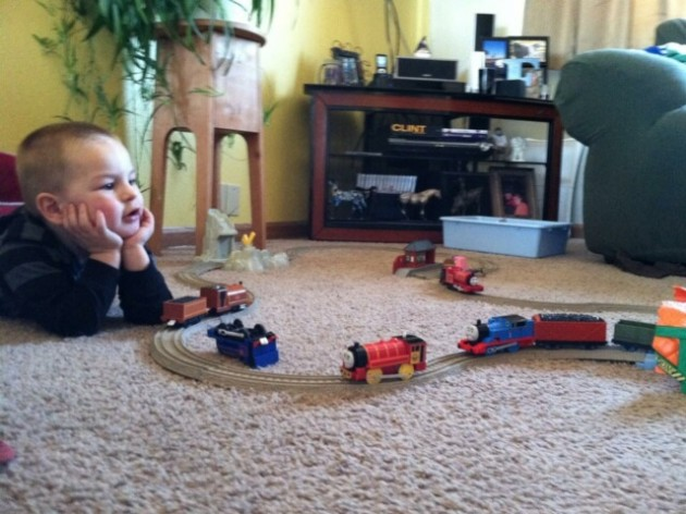 zander and train set