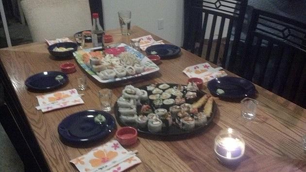 The Sushi Spread
