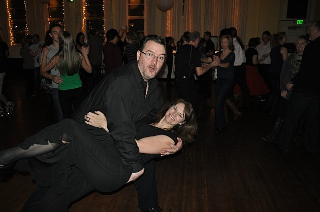 Todd Dips his Wife while Salsa Dancing