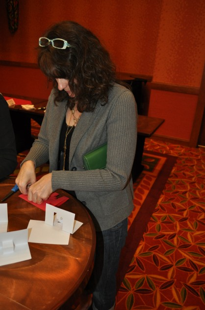 Todd's Wife Jenny making pop-up cards