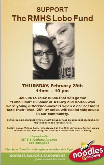 Ashley and Colton RMHS Lobo Fund