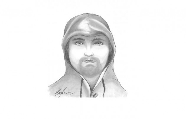 Drawing of suspect in Marco's Pizza Robbery